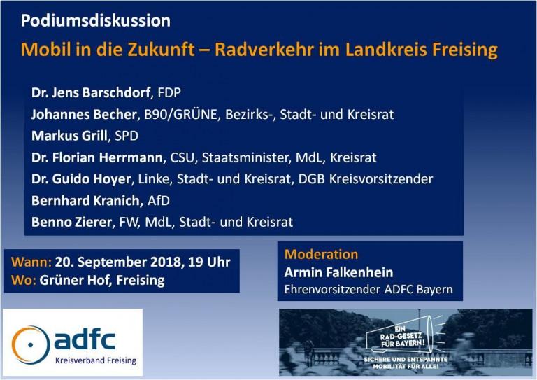 AdFC Landtagskandidatenpodium - SPD Freising